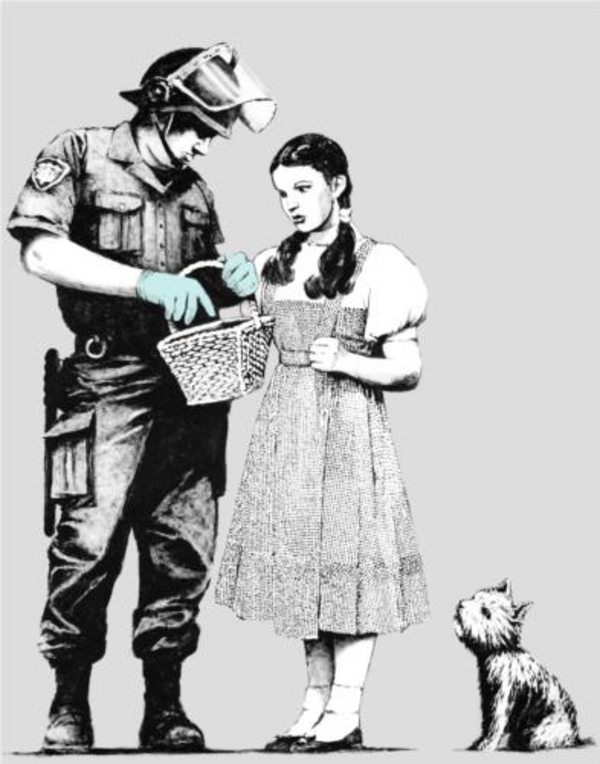 stop and search  Banksy